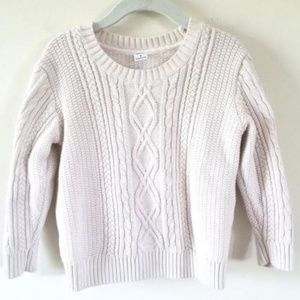 Janie & Jack Ivory Cable Knit Sweater